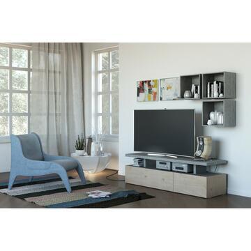 Porta tv moderno noce con ripiani fissi per sistemare al meglio